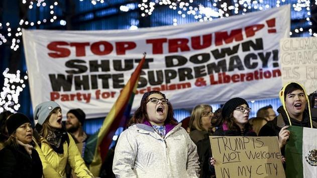 Chicagoda Trumpa protesto