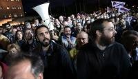 Yunanistanda engellilerden kemer sıkma protestosu