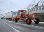 Erzincanda kar, ulaşımı aksattı