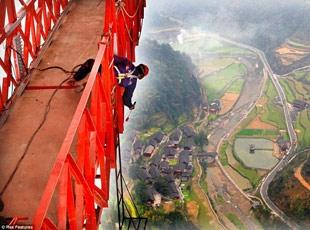 En Yüksek Asma Köprü Çinde Yapıldı