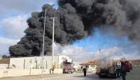 Kocaelide korkutan fabrika yangını