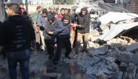İdlibde yerleşim yerine saldırı
