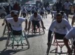 Gazzede engelliler maratonu