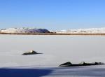 Hafik Gölünün yüzeyi buz tuttu