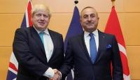 Bakan Çavuşoğlu, İngiliz mevkidaşı Johnson ile görüştü
