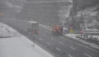 Bolu Dağında kar yağışı başladı