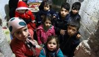 AFAD Odunluğa sığınan Suriyeli ailenin yardımına koştu