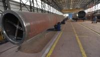 Rüzgar türbinlerinin kuleleri Gaziantepte üretiliyor