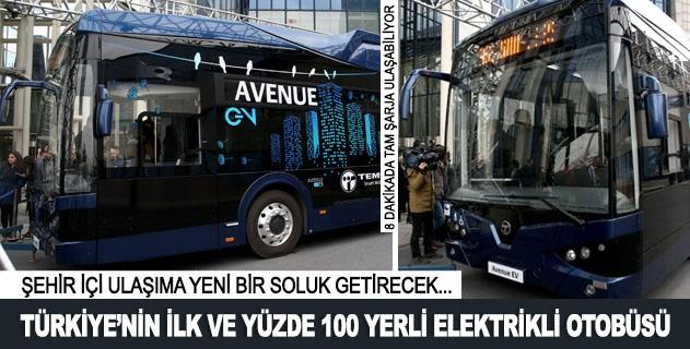 Türkiyenin ilk ve yüzde 100 yerli elektrikli otobüsü