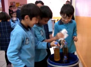 Atık yağ kirliliğini önlemek için öğrencilerden destek