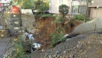 Şişlide göçük, 5 katlı bina boşaltıldı