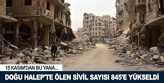 Doğu Halepte ölen sivil sayısı 845e yükseldi