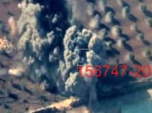 El-Babda DEAŞ hedeflerinin vurulma anı