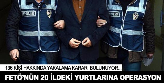 FETÖnün 20 ilde yurtlarına operasyon: 35 gözaltı