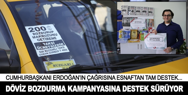 Türk lirasına destek kampanyası sürüyor