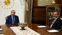 Erdoğan MİT Müsteşarı Fidanı kabul etti