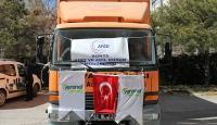 Konyadan Halepe 9 ton un yardımı
