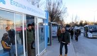 Erzurumda klimalı otobüs durakları