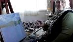 """""""Şalvarlı ressam""""dan engelli ve çocuklara resim dersi"""