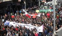 Ürdünde Halepe destek gösterisi