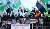 Brükselde Halep protestosu