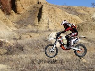 Kapadokya vadileri motokrosçuların gözdesi oldu
