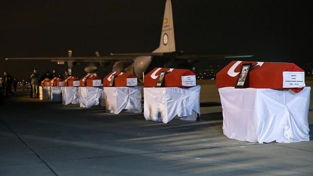 Şehit 7 askerimiz için tören düzenlendi