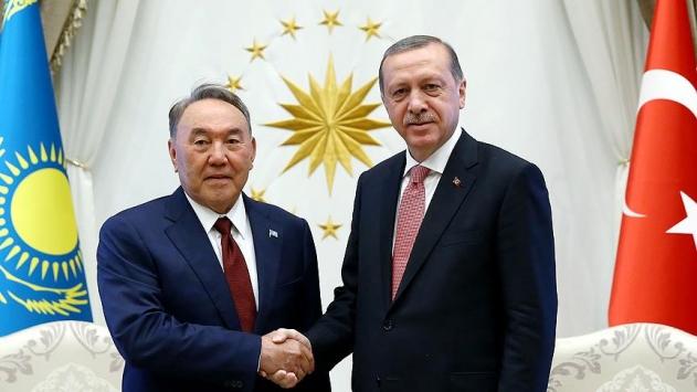 Erdoğan ile Nazarbayev ile görüştü