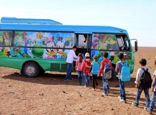 """Suriyede eğitim için yeni bir alternatif: """"Mobil okul"""""""