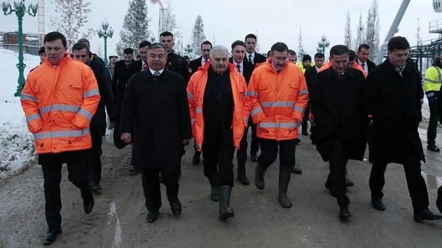 Başbakan, Ankaparkta incelemelerde bulundu