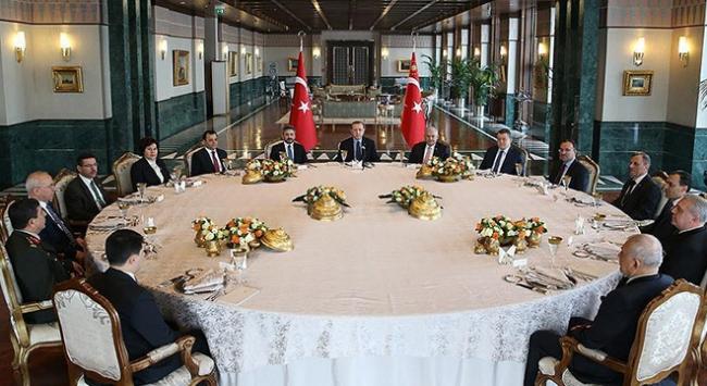 Erdoğan, yasama, yürütme ve yargının temsilcileriyle biraraya geldi
