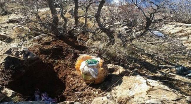 Toprağa gömülü bulunan EYP düzeneği imha edildi