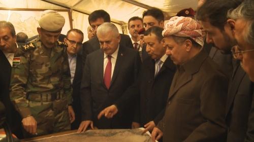Başbakan Yıldırım, Peşmerge cephesini ziyaret etti