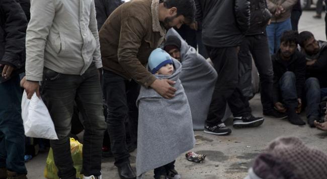 Sığınmacıların kış şartlarında zorlu yaşam mücadelesi