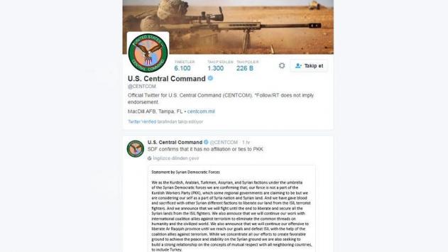 ABD Merkez Kuvvetler Komutanlığından PYDye açık destek