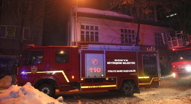 Konyanın Karatay ilçesinde yangın