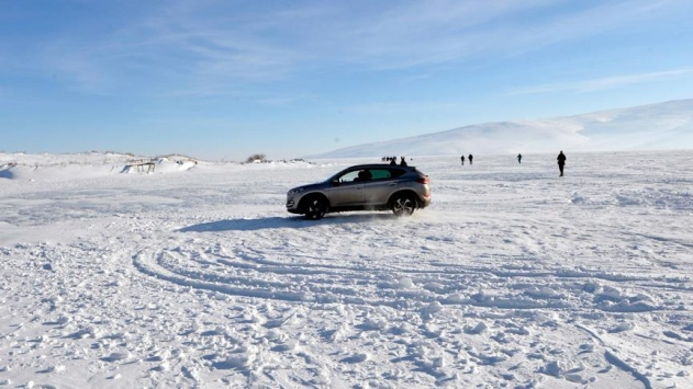 Çıldır Gölü üzerinde drift