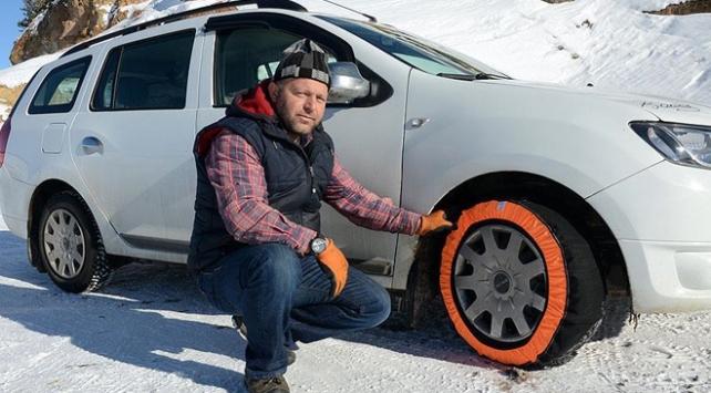 Lastiklere zincir yerine kar çorabı