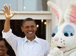 Obama Yumurta Yuvarladı, Şınav Çekti