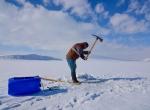 Donan Nazik Gölünde balık avı