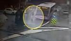 İETT otobüsünün spiker Karaer'e çarpma anı