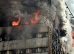 Tahranda 15 katlı iş yerinde yangın