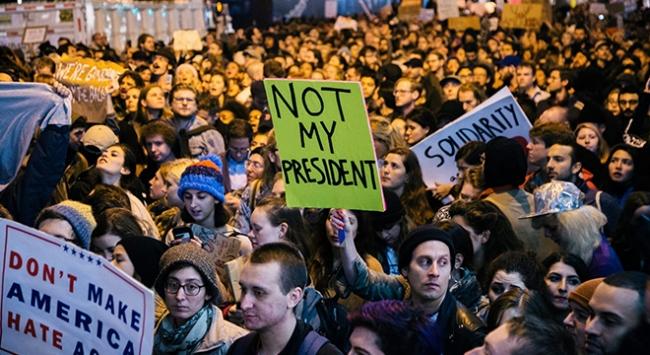 Newyorkta Trump karşıtı gösteriler