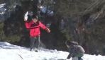 Antalyada bir yanda güneş bir yanda kar