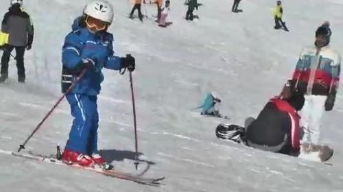Kayak merkezlerinde yoğunluk