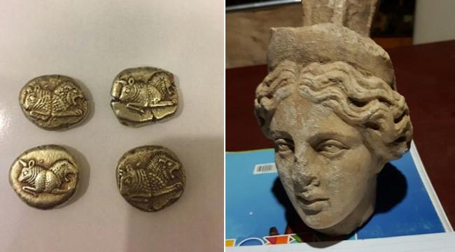 Bizans dönemine ait tarihi eserler ele geçirildi