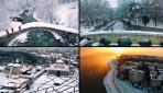 Karlar içindeki Türkiye havadan böyle görüntülendi