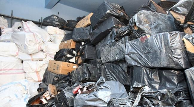 Vanda 302 bin paket kaçak sigara ele geçirildi