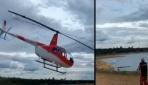 Helikopter denize böyle çakıldı