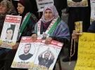 Filistinli tutukluların ailelerinden protesto